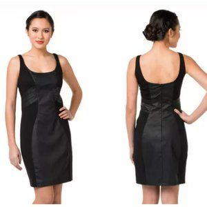 Blanc Noir Vegan Leather Ponte Tank Dress L